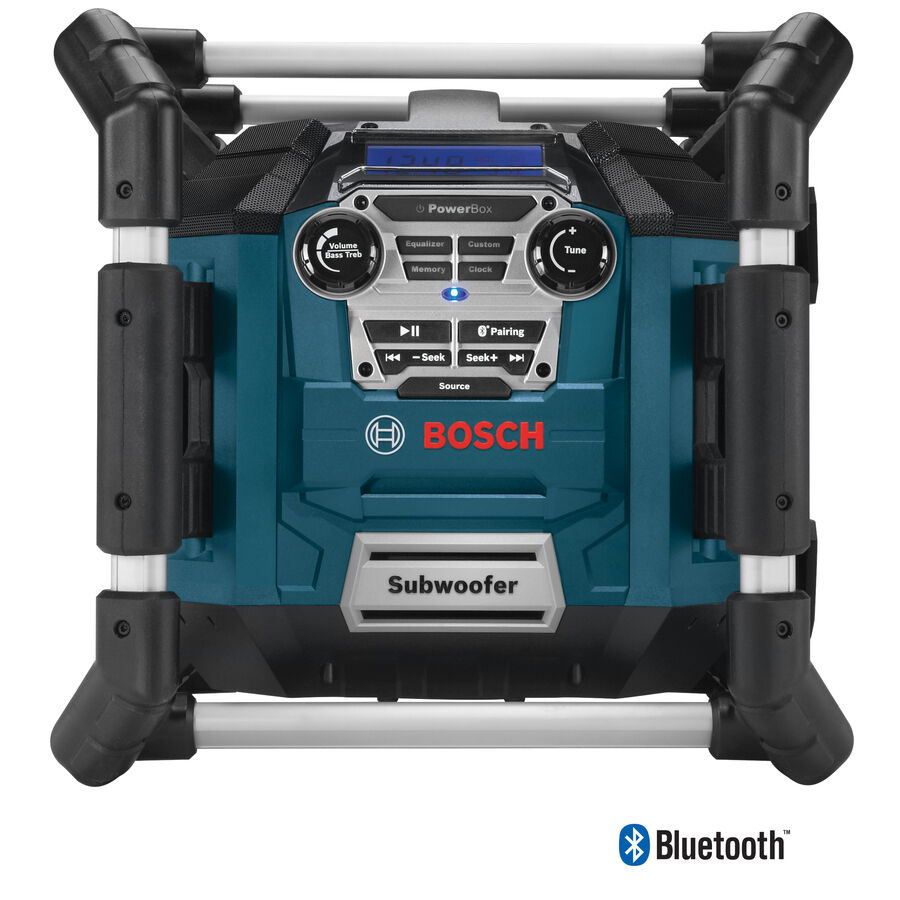 Water Resistant Cordless Blautooth AM FM USB Charging Port Work Jobsite Radio