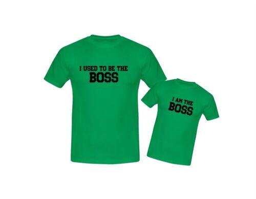 Yo solía ser el jefe Padre Hijo Hija para adultos y niños camiseta/'s Día Del Padre