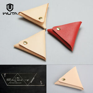 image is loading wuta triangle coin purse leather template acrylic pattern