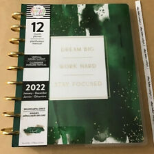 New The Happy Planner 2022 Work Hard Classic Deluxe Hustle Amp Heart 12 Mo Planner