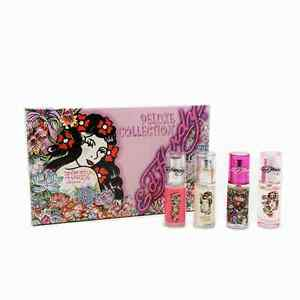 Ed-Hardy-Deluxe-Collection-4-Piece-Gift-Set-For-Women-NIB