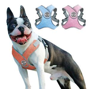 Step-In-Reflectante-Chaleco-De-Malla-Acolchada-arnes-del-perro-para-Bulldog-Frances-Pitbull-S-M-L