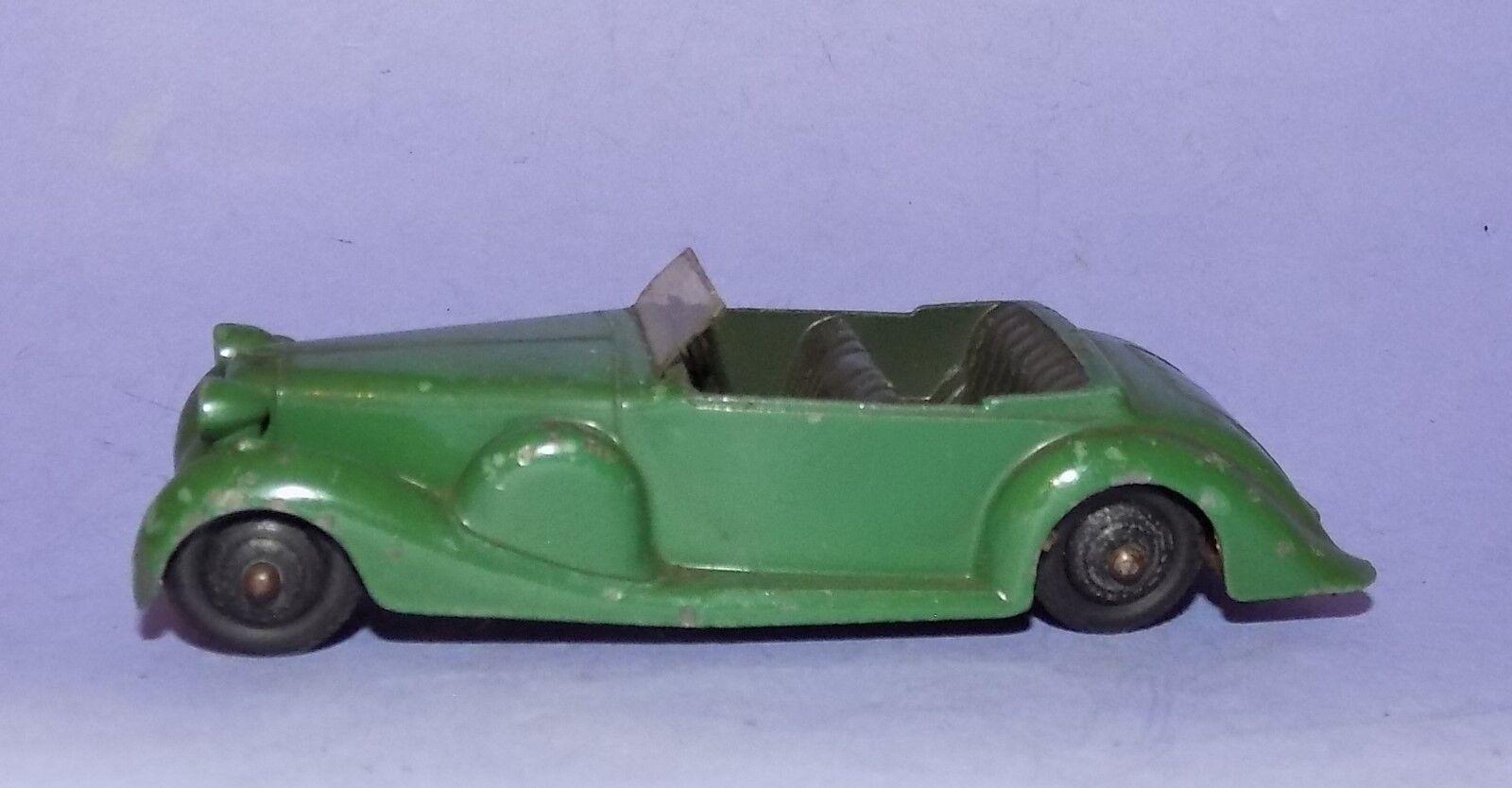 VINTAGE  1946 - 1955  DINKY TOYS  NO 38C  GREEN LAGONDA  LOT 2