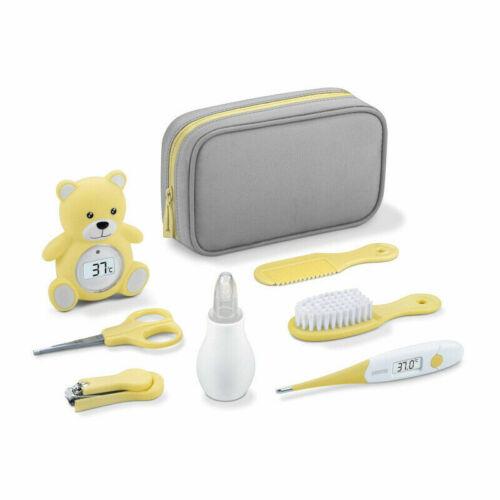 Baby Pflegeset 8tlg Sanitas Thermometer Nasensauger Fieber Bad Pflege Set Tasche