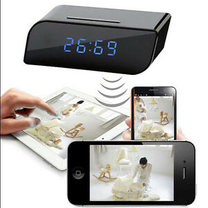 720p-Sin-Cable-Wifi-IP-Vision-Nocturna-Camara-Reloj-Despertador-DVR-Geheimnis