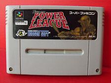 Super Power League Jeu NTSC Super Famicom SNES Nintendo Import Japon