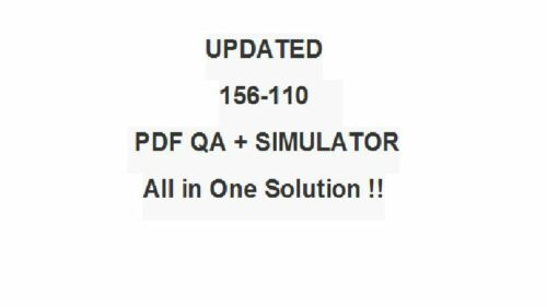 Check Point CCSPA Security Principles Associate Test 156-110 Exam QA/&Simulator