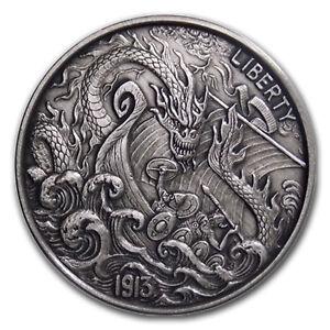 1 oz Silver Antique Hobo Nickel (Viking Berserker) - SKU#157998