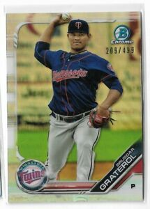 2019 Bowman chrome prospects refractor Parallel Brusdar Graterol 209/499