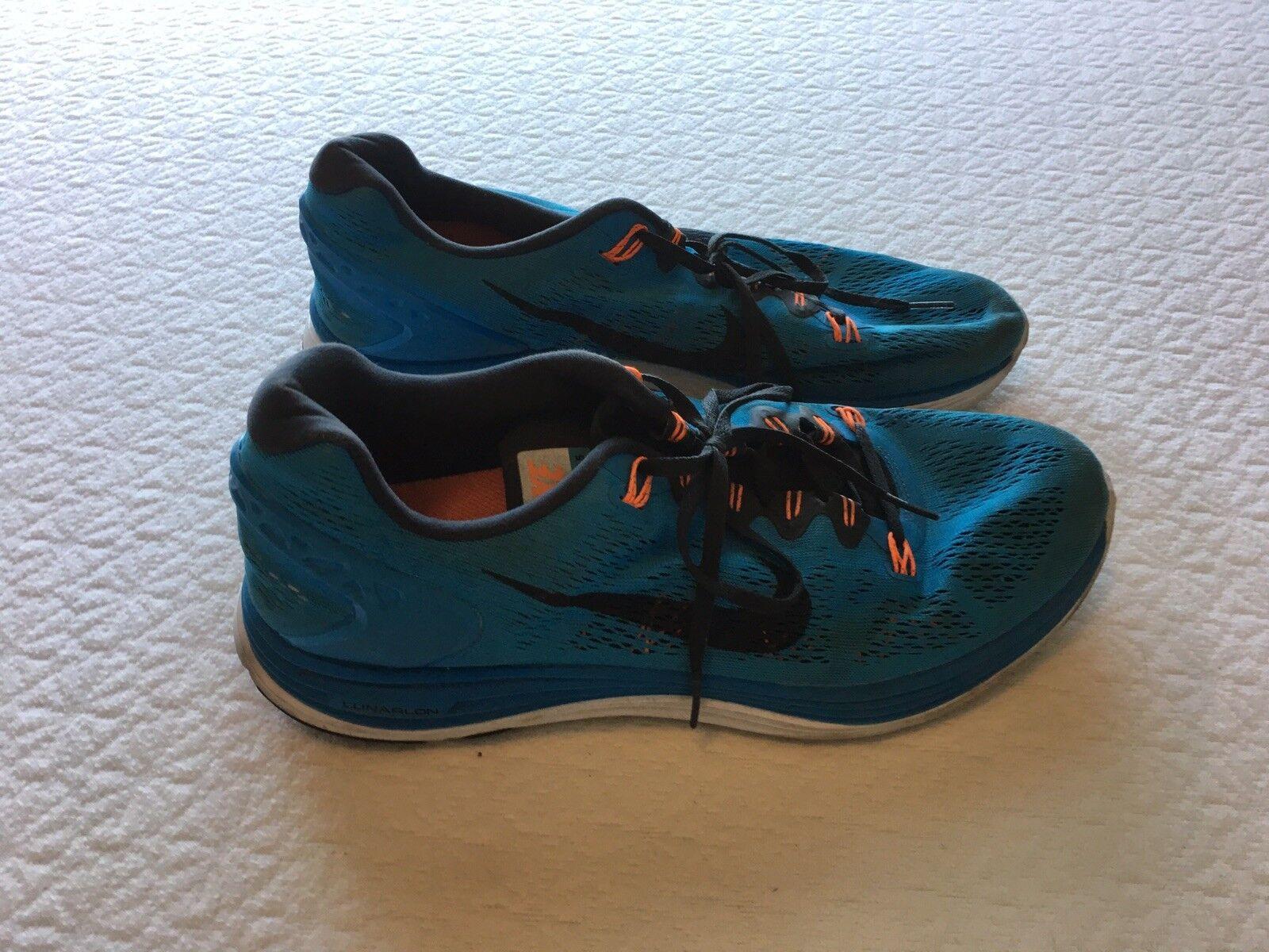 4e6e2de1b6 Nike men's bluee black size us 13 599160 400 orange lunarglide  nfdoou3595-Athletic Shoes