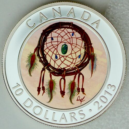 Canada 2013 $10 Dreamcatcher 99.99/% Pure Silver Hologram Color Proof Coin
