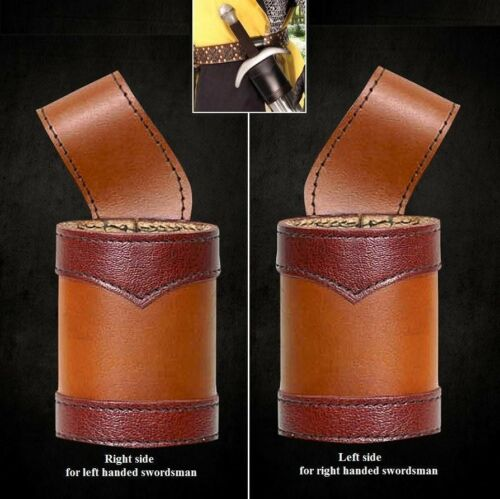 Left or Right Handed Costume Re-enactment or LARP Leather Sword Frog Holder