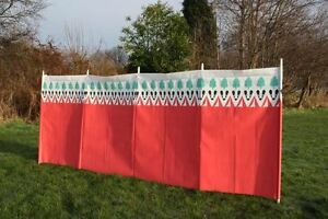 Beach-Windbreak-Wooden-Poles-Perfect-for-Camping-Garden-Witley-Badger-Design