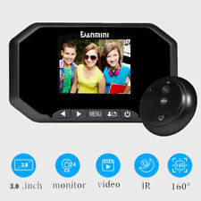 """3"""" Door Peephole Camera 160 Degrees Detection Video Viewer Night Vision US"""