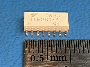 TLP281-4 (GB) Toshiba Transistor Opto-coupler 4 Ch 2.5kV 16 Pin (2 pcs)