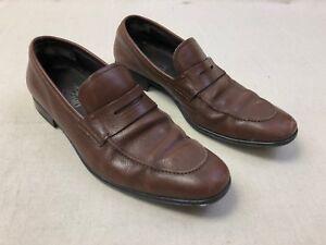 e507801f34d Salvatore Ferragamo Mens Sz 8 D Slip On Shoes Penny Loafers Brown ...