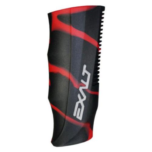 Exalt Paintball Luxe Régulateur Grip Cover-noir/rouge Swirl