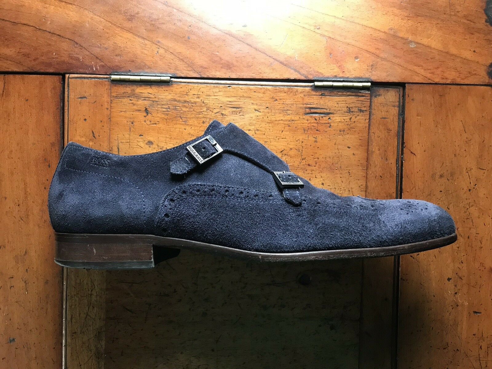 Hugo Boss bluee Suede shoes 9