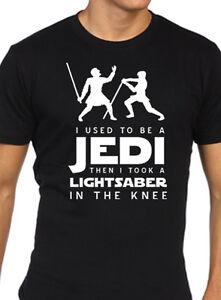 ed6d8c40 Star wars elder scrolls skyrim funny t shirt jedi arrow knee   eBay