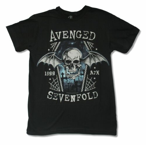 Avenged Sevenfold Chain Coffin Black T Shirt New Official Adult Metal A7X