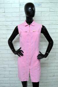 Vestito-Donna-COLMAR-Taglia-42-Abito-Dress-Cotone-Rosa-Woman-PARI-AL-NUOVO