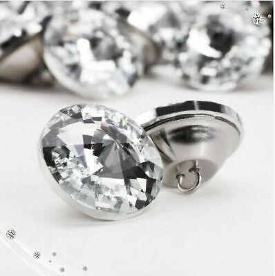 Diamante Crystal Glass Button Round Upholstery Headboard Chair Sofa Decor20//25mm