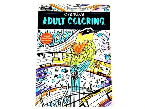Designer Series Adult or any Age Coloring Books w//  Pencils Customer Choice