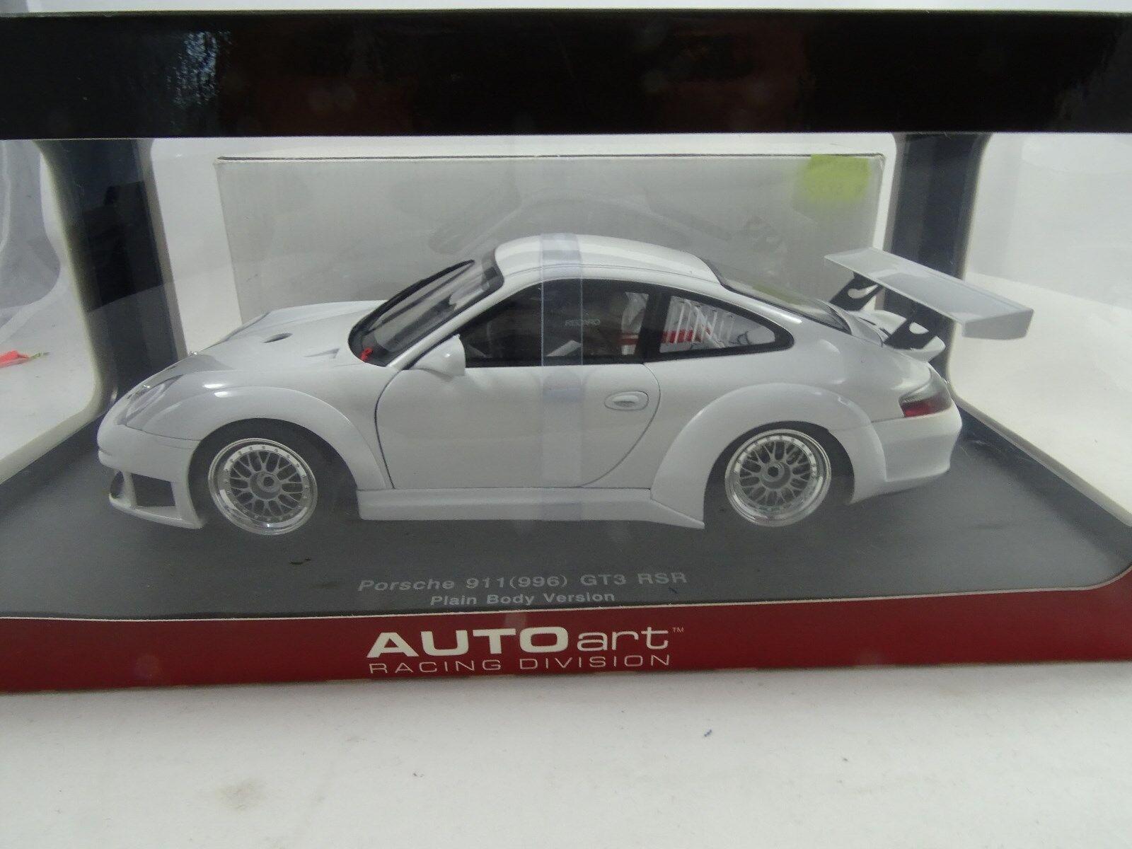 1 18 Autoart  80584 PORSCHE 911 (996) gt3 rsr 2005 Plain Body blanc-RARE §