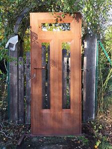 Deko Tür Edelrost 181x76cm Haustür Gartentür Tür Rost Metall