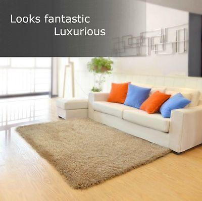 Floor Rug Carpet Mat Shaggy Soft Thick Large Bedroom Living Room 160x230cm