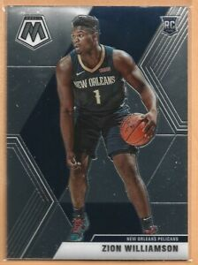 2019-20 Panini Mosaic Zion Williamson Card RC #209 New Orleans Rookie