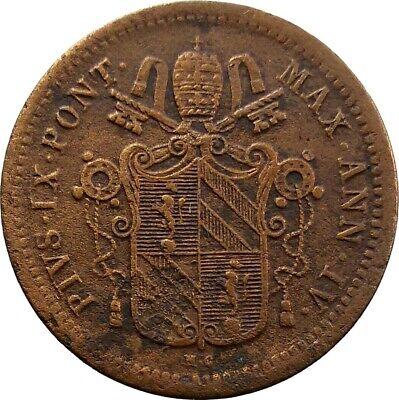 STATO PONTIFICIO 1/2 MEZZO BAIOCCO 1850 | eBay