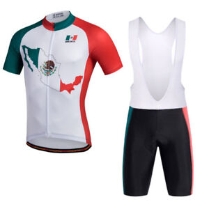 Mexico Team Cycling Clothing Kit Men s Cycle Jersey and (Bib) Shorts ... 8146ab402