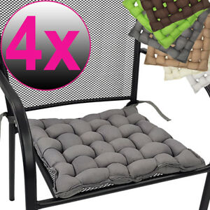 4x Coussin De Chaise 40x40 Flechtkissen Siege Decoratif