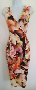 Womens-Lk-Bennett-Multicolour-Floral-Crossover-Pleated-Stretch-Jersey-Dress-10