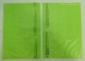 Qty-100-Lime-High-Density-Bags-8-5-034-x-11-034-Plastic-Merchandise-Shopping-Bag