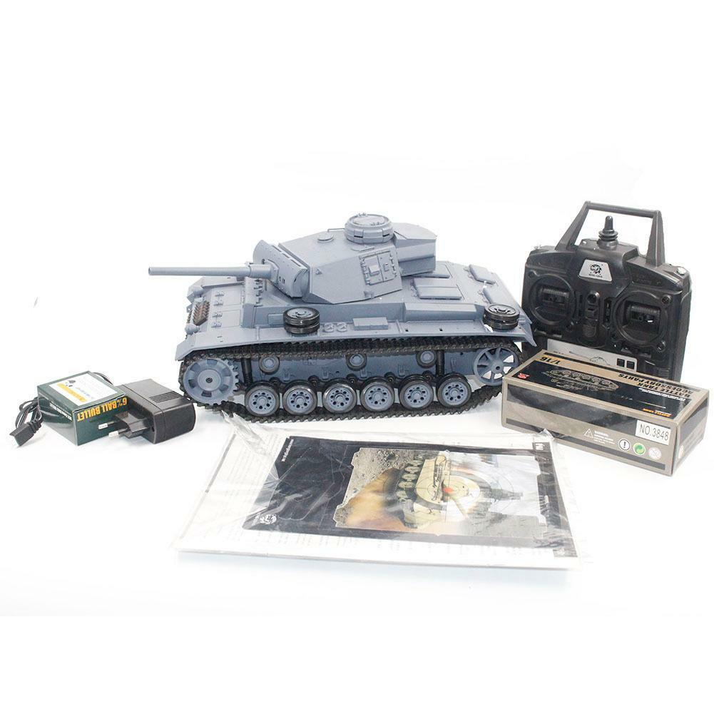 Heng Long 1 16 2.4G 3848 RC Panzer German III L TYPE Kampfpanzer Sound Rauch
