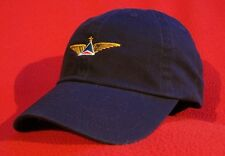 Delta AirLines FO (retired logo) Pilot Wings (blue/red) ball cap BLUE hat