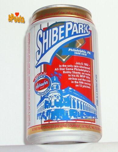 PHILADELPHIA ATHLETICS+PHILLIES SHIBE PARK STADIUM HISTORY SCHAEFER BEER CAN PA.