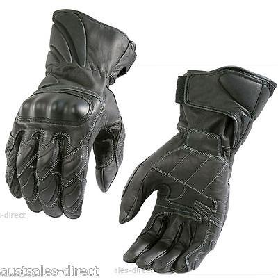 Mens Joe Sports Naked Cruiser Bike Black Leather Motorcycle Gloves Finn Moto