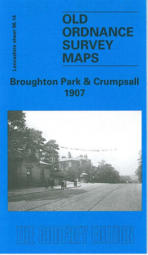 OLD ORDNANCE SURVEY MAP BROUGHTON PARK CRUMPSALL 1907 MANCHESTER CHEETHAM HILL