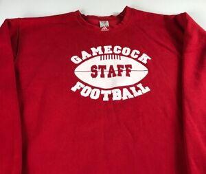 Gamecock-Football-Staff-Sweatshirt-Mens-2XL-Adidas-South-Carolina-Long-Sleeve