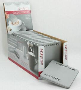 Cappuccino Art Coffee Stencils 6 In Tin Template Aerolatte Barista Cappucino