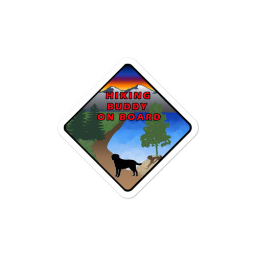 Details about  /Hiking Buddy On Board Dog Sticker