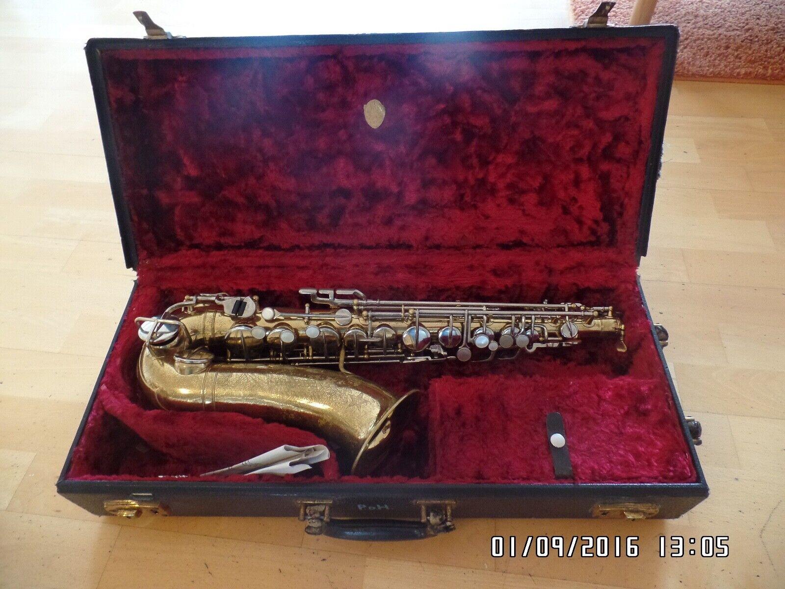 Martin Alt Saxophon Vintage SerienNummer 124609