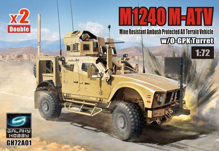 T-Model 1 72  GH72A01C M1240 M-ATV MRAP w O-GPK Turret (2 Vehicles)