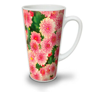 Dahlia Flower Art NEW White Tea Coffee Latte Mug 12 17 oz | Wellcoda