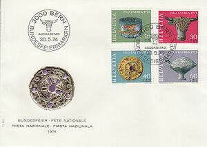 Schweiz FDC Ersttagsbrief 1974 Archäologische Funde Mi. 1031-34