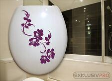 WC Deckel Toiletten Aufkleber Swarovski Strass Tattoo Blumen Ranke Bad Dusche 21