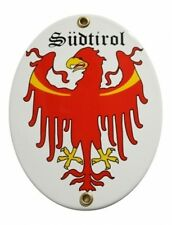 SÜDTIROL Emaille Schild Email Gr. 11,5x15cm NEU Fahne Wappen Österreich Austria